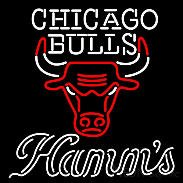 Hamms Chicago Bulls NBA Neon Beer Sign