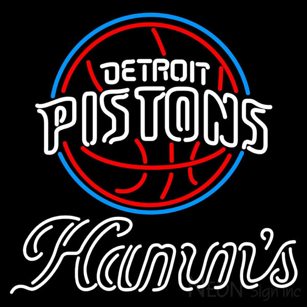 Hamms Detroit Pistons NBA Neon Beer Sign