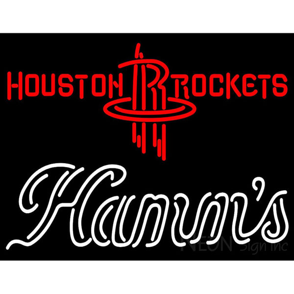 Hamms Houston Rockets NBA Neon Beer Sign