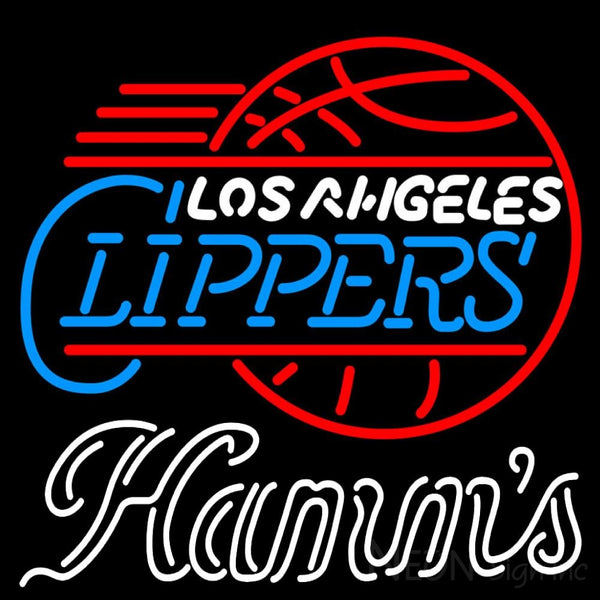 Hamms Los Angeles Clippers NBA Neon Beer Sign