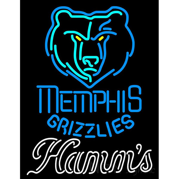 Hamms Memphis Grizzlies NBA Neon Beer Sign