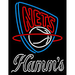 Hamms New Jersey Nets NBA Neon Beer Sign