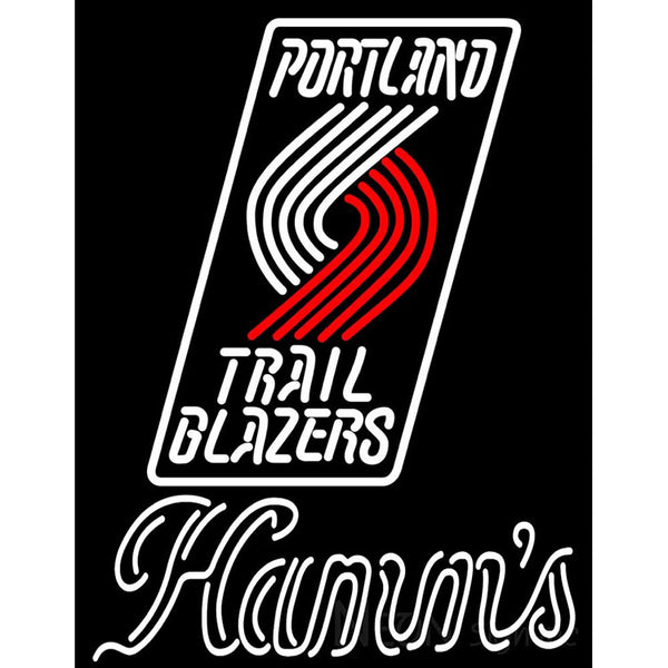 Hamms Portland Trail Blazers NBA Neon Beer Sign