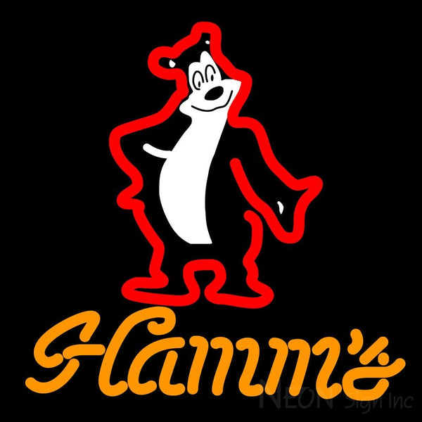 Hamms Red Neon Beer Sign 16x16