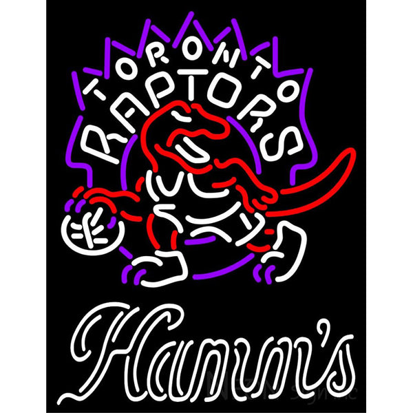 Hamms Toronto Raptors NBA Neon Beer Sign