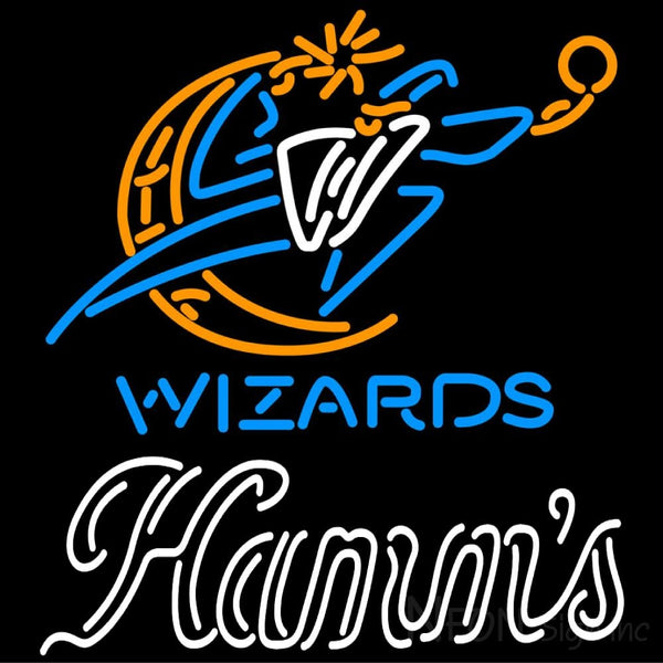 Hamms Washington Wizards NBA Neon Beer Sign