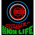 High Life Chicago Cubs MLB Neon Sign 3 0008
