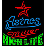 High Life Houston Astros MLB Neon Sign 3 0009