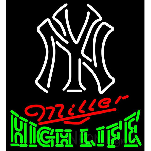 High Life New York Yankees White MLB Neon Sign 3 0017