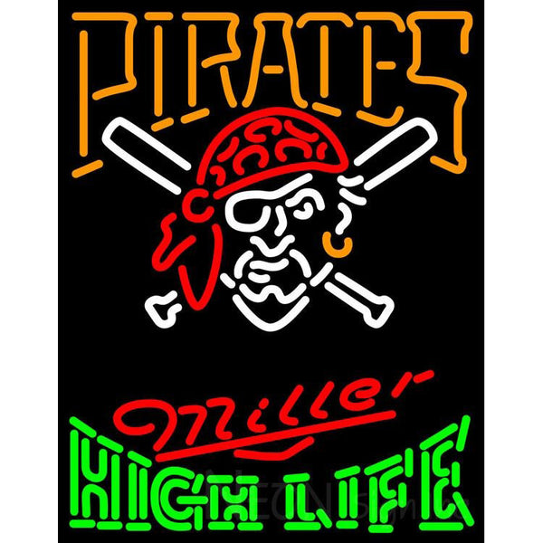 High Life Pittsburgh Pirates MLB Neon Sign 3 0014
