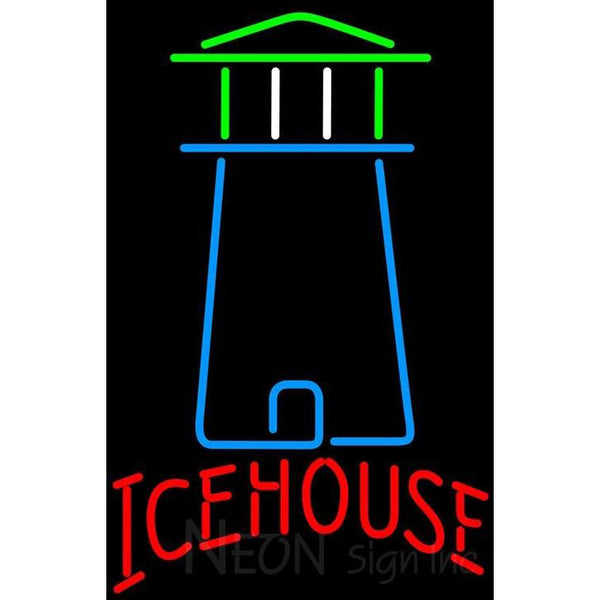 Ice House Light House Art Neon Beer Sign