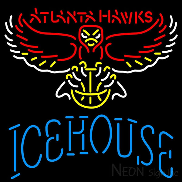 Icehouse Atlanta Hawks NBA Neon Beer Sign