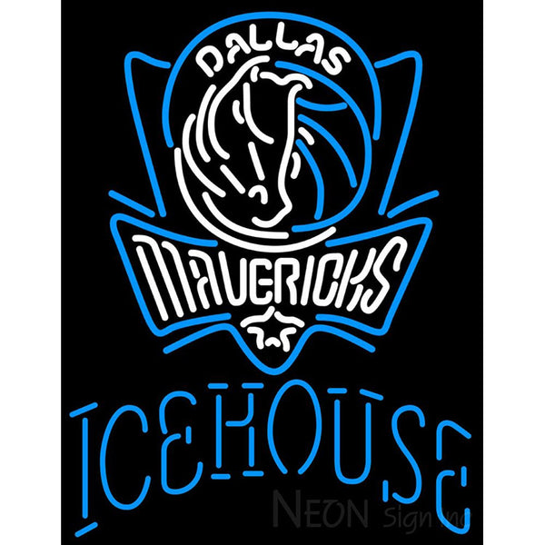 Icehouse Dallas Mavericks NBA Neon Beer Sign