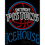 Icehouse Detroit Pistons NBA Neon Beer Sign