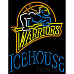 Icehouse Golden St Warriors NBA Neon Beer Sign
