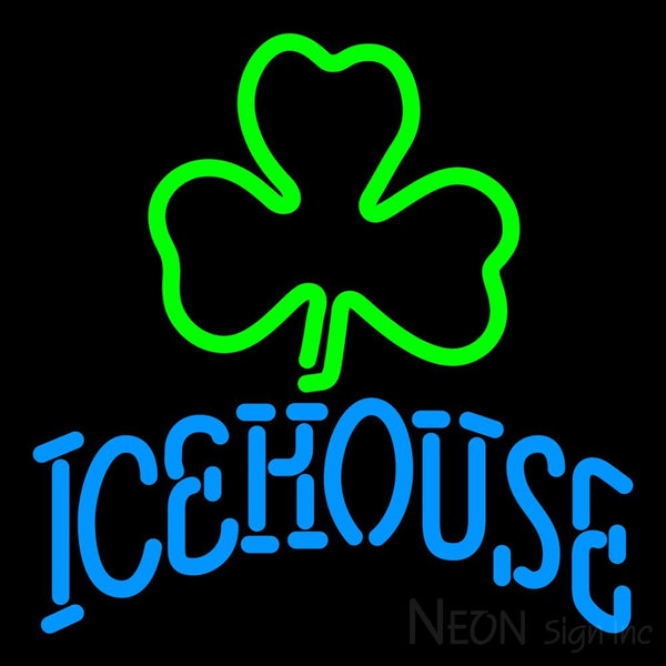 Icehouse Green Clover Neon Beer Sign 16x16