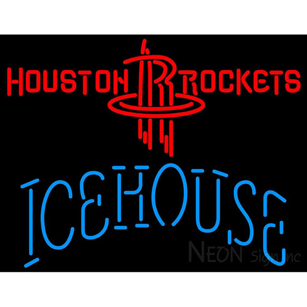 Icehouse Houston Rockets NBA Neon Beer Sign