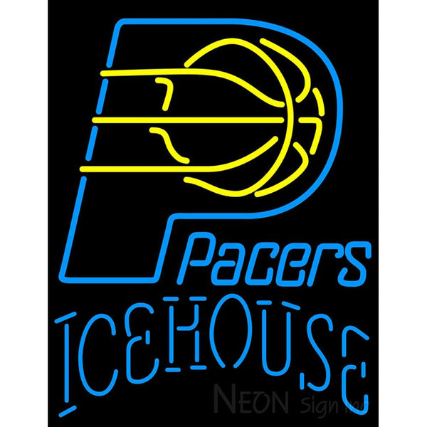 Icehouse Indiana Pacers NBA Neon Beer Sign