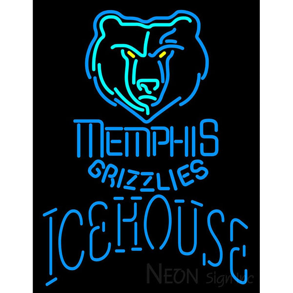 Icehouse Memphis Grizzlies NBA Neon Beer Sign