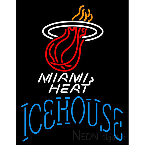 Icehouse Miami Heat NBA Neon Beer Sign