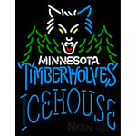 Icehouse Minnesota Timber Wolves NBA Neon Beer Sign