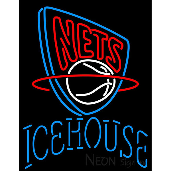 Icehouse New Jersey Nets NBA Neon Beer Sign