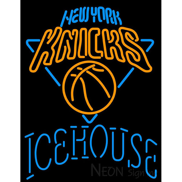 Icehouse New York Knicks NBA Neon Beer Sign