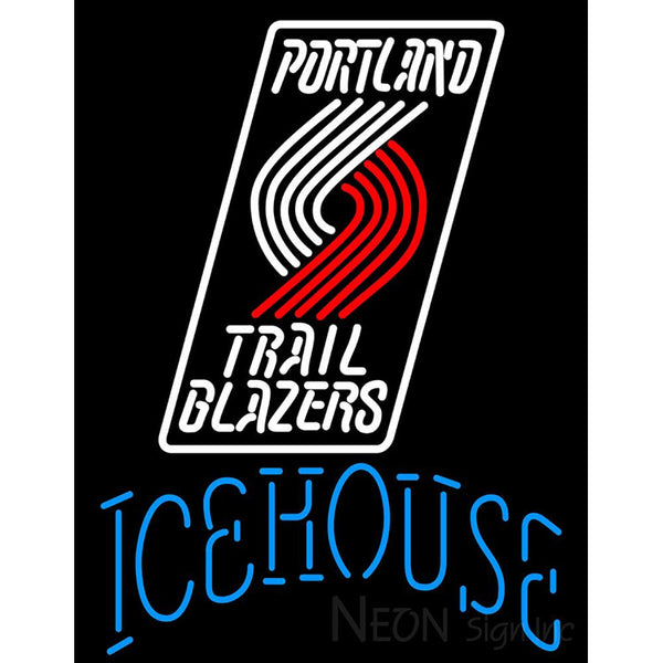 Icehouse Portland Trail Blazers NBA Neon Beer Sign