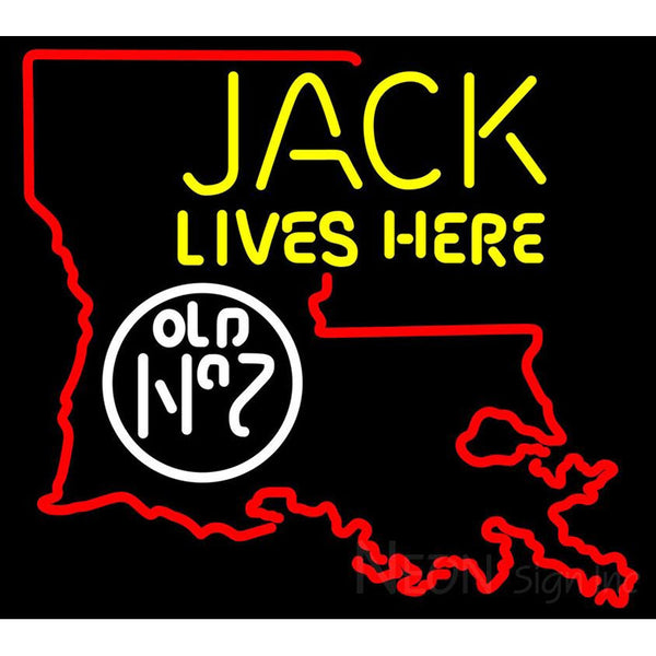 Jack Daniel's Jack Lives Here Louisiana Neon Sign