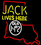 Jack Daniel's Jack Lives here Kentucky neon sign