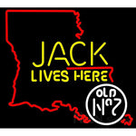 Jack Daniels Jack Lives Here Louisiana Neon Sign 1