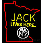 Jack Daniels Jack Lives here Minnesota neon sign