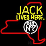 Jack Daniels Jack Lives Here New York Neon Sign 16x16