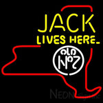 Jack Daniels Jack Lives Here New York Neon Sign 24x24