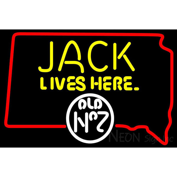 Jack Daniels Jack Lives Here South Dakota Neon Sign
