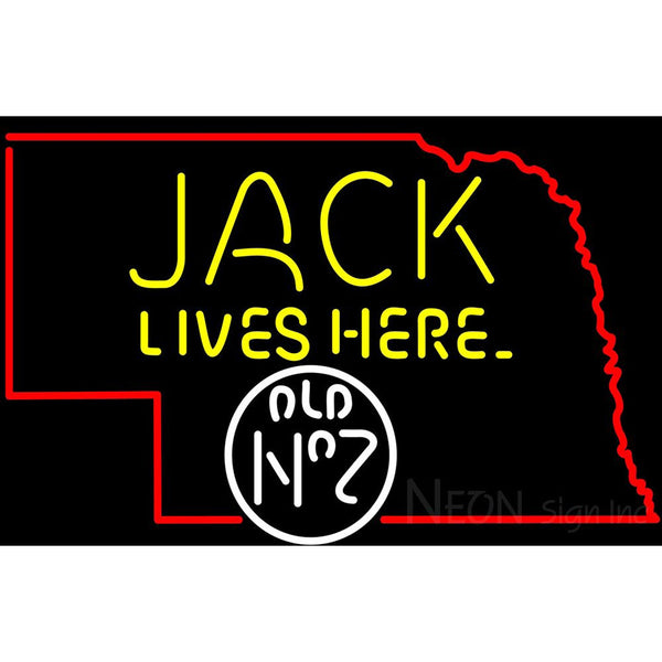Jack Lives Here Nebraska Neon Sign 1