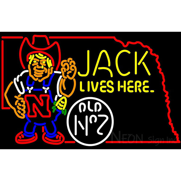 Jack Lives Here Nebraska Neon Sign 2