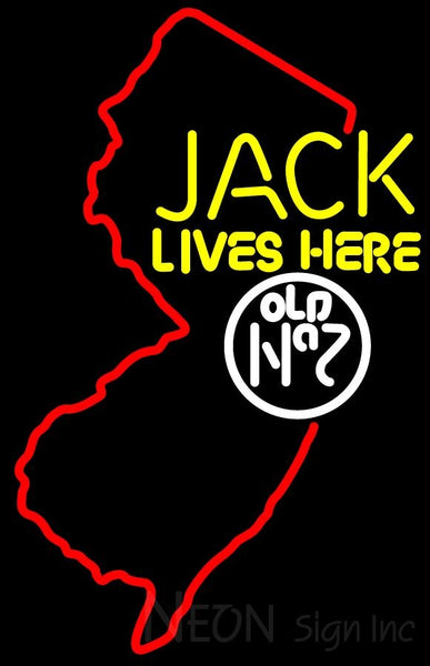 Jacks Live Here New Jersey Neon Sign 2