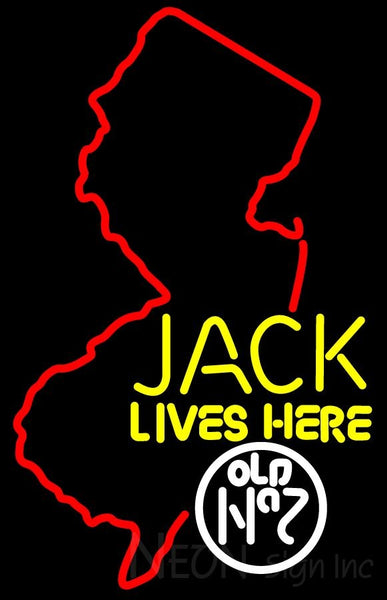 Jacks Live Here New Jersey Neon Sign 3
