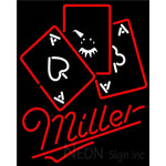 Miller Ace And Poker Neon Sign