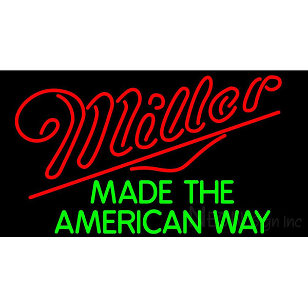 Miller American Way Neon Beer Sign