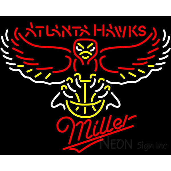 Miller Atlanta Hawks NBA Neon Sign