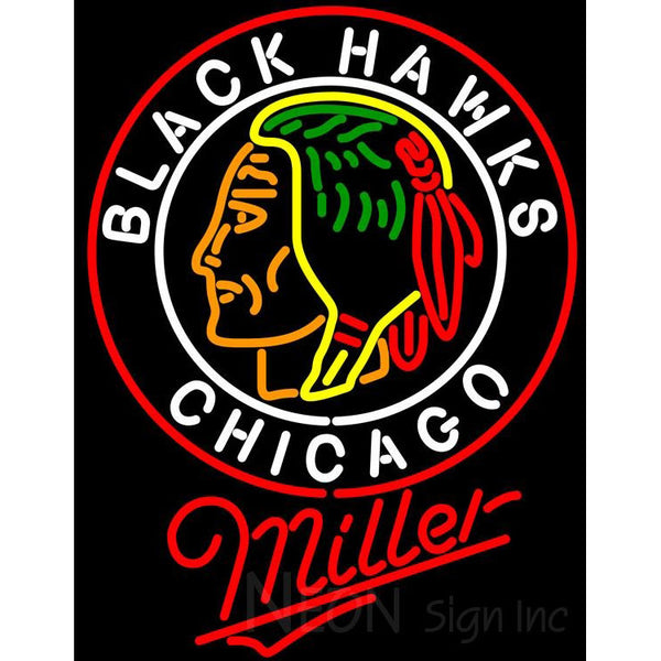 Miller Commemorative 1938 Chicago Blackhawks Neon Sign