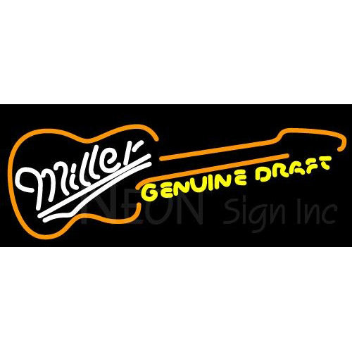 Miller Country Guitar Neon Signs