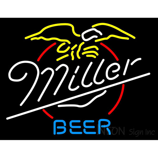 Miller Eagle Neon Beer Sign