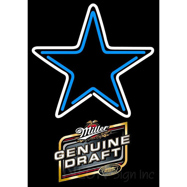 Miller Genuine Draft Dallas Cowboys NFL Neon Sign 1 0016