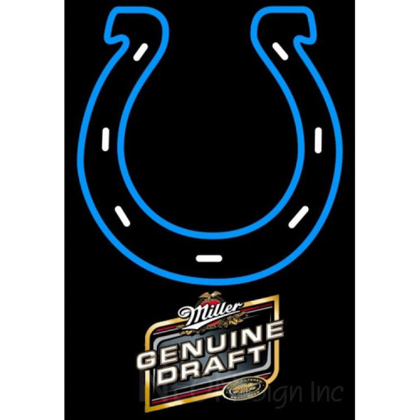 Miller Genuine Draft Indianapolis Colts NFL Neon Sign 1 0016