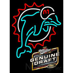 Miller Genuine Draft Miami Dolphins NFL Neon Sign 1 0017