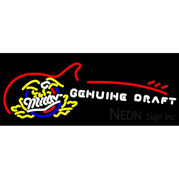 Miller Genuine Draft Sun With Guitar Beer Sign