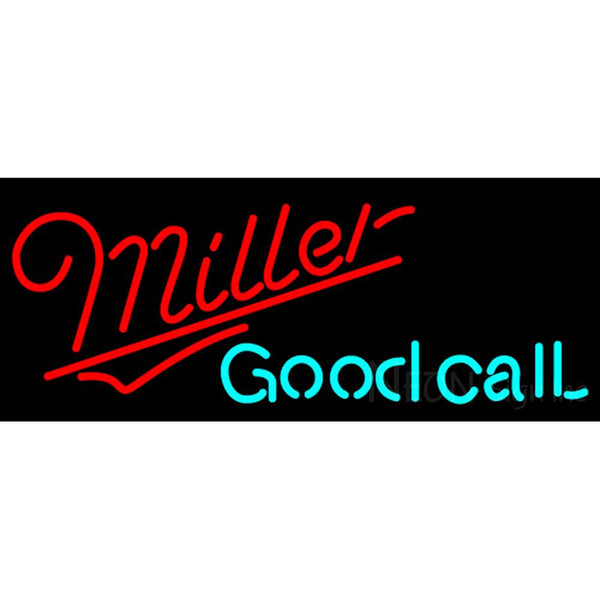 Miller Good Call Neon Beer Sign